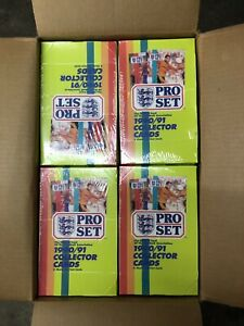 1990/91 Pro Set Soccer Factory Sealed 2 Box Lot 48 Packs Each From A Sealed Case
