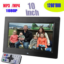 "10"" HD TFT-LCD Digital Photo Frame Picture Clock Movie Player + Remote Contorl"
