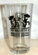 NEW ORLEANS JAZZ & HERITAGE FESTIVAL GLASS THE BULLDOG RARE VINTAGE!!!
