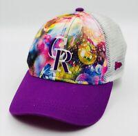 New Era 9Forty Girl's Colorado Rockies MLB Baseball Cap Hat Neon PINK Floral