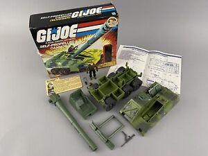 Hasbro G.I. Joe ARAH 1984 Slugger with Box Blueprints Thunder File Card