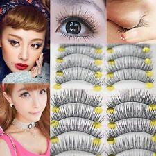 10 Paar falsche Wimpern künstliche Wimpern Augen Extensions Eyelashes Makeup Set