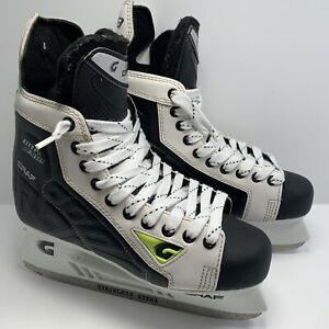GRAF ULTRA F10 Ice Hockey Skates Black & White Carbon fibre look UK 8