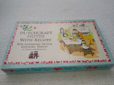 Vintage AMISH NOTE CARDS W/ RECIPES & Envelopes Set of 12 Authentic Dutch Treats