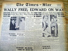 3 1937 newspapers WALLIS WARFIELD SIMPSON Divorced Now to MARRY KING EDWARD VIII