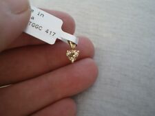 Csarite heart shaped pendant, 0.5 carats, in 0.52 grams of 10K Yellow Gold