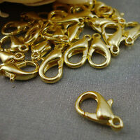 25 14mm Gold Plated Lobster Trigger Clasps Jewellery