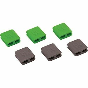 CableClips Small Green and Grey 6PK