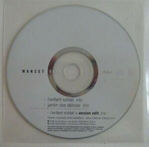 """MANSET : OBOK """"L'ENFANT SOLDAT"""" / """"JARDIN DES DELICES"""" ♦ CD SINGLE PROMO ♦"""