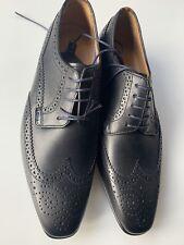 Paul Smith Aldrich Black Leather Brogue Shoes-Size UK 7 .1/2