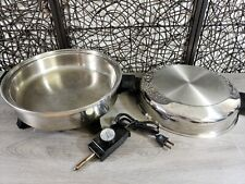 SOCIETY  REGAL WARE LIQUID CORE ELECTRIC SKILLET W/ DOME LID K7253 TESTED WORKS
