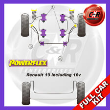 Renault 19 inc 16v (88-96) Non Adjustable Powerflex Complete Bush Kit
