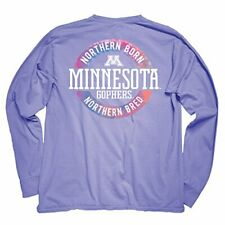 Ncaa Minnesota Golden Gophers Adult Ncaa Dyed Ringspun Longsleeve Tee with Po.