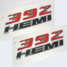 2 OEM Chrome 392 HEMI Emblem Badge decals 3D for Dodge Challenger Y Chrysle