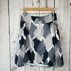 Mossimo A Line Skirt Womens Size Small Camouflage Knee Length Gray