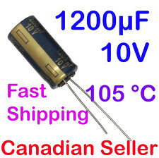 1200uF 10V 10x20mm 105C Panasonic FC Low impedance For LCD TV LED PSU PC