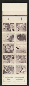 USA 1981 MNH BOOKLET PANE STILL ATTACHED TO BOOKET COVER AMERICAN WILDLIFE