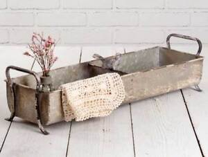 Songbird Divided Tray in distressed Tin