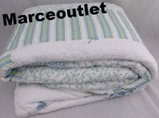 Martha Stewart Bellflower FULL Embroidered Bedspread White / Blue