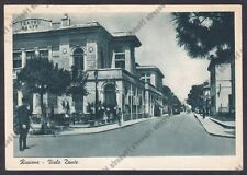 RIMINI RICCIONE 82 TEATRO - GELATERIA NORGE - TRAM Cartolina viaggiata 1940