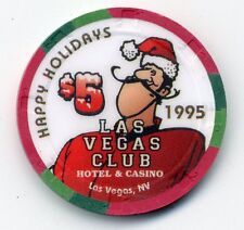 LAS VEGAS CLUB 1995 HAPPY NEW YEAR UNC.  CASINO $5 CHIP