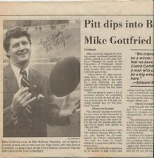 Mike Gottfried Signed 1985 Newspaper Photo Clipping Pitt Panthers
