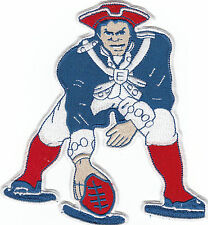 """NFL New England Patriots Throwback Patch Old Pat Patriot Retro Logo LARGE 6"""""""