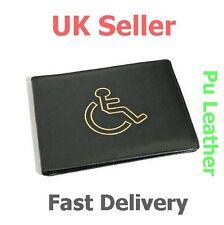 Disabled Blue Badge Holder Hologram Parking Permit Display Cover Wallet Black UK