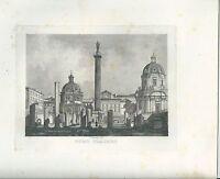 1848 ROMA FORO TRAJANO Traiano acquaforte su rame Marchi