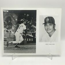 "CHRIS CANNIZZARO - Los Angeles Dodgers Baseball - 2 Photographs on 8"" x 10"" Page"