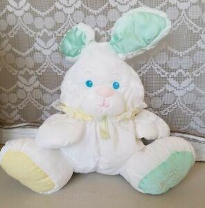 "Vintage Fisher Price Puffalump White Bunny Rabbit Plush  12"" Rattle Toy"