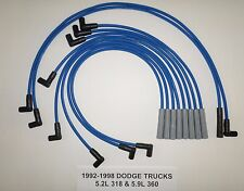 DODGE RAM 1999-2002 5.2L 318 5.9L 360 1500 2500 3500 BLUE 8mm Spark Plug Wires