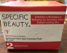 Specific Beauty Advanced Dark Spot Corrector Pads 30 PADS NEW SEALED