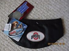 Dog Zone Licensed NCAA Pet Round Small Travel Bowl, Red, Ohio State Buckeyes