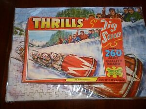 Complete Boxed Thrill Bobsleigh Race Winter Sport England Olympics Jigsaw Puzzle