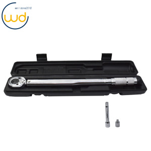 """1/2"""" Torque Wrench Snap 3/8"""" Socket Drive Click Type Ratcheting 10-150 ft. lbs"""
