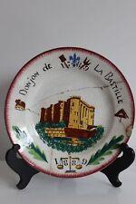 Assiette du centenaire de la prise de la bastille 1889 Révolution au pochoir