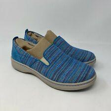Dansko Belle Shoes in Blue Textured Canvas sz 40 US 9.5-10