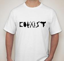 Coexist T shirt Tee Gun rights 2nd AMENDMENT  Pistols Gun Rights 2A