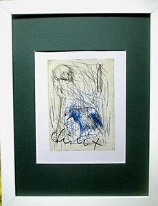 MARKUS LÜPERTZ >Rabe< HAND-SIGNIERT,30x20,Foto-Multiple mit Rahmen,orig.signed