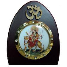 God Statue wooden car dashboard Durga Sherawali idol study work  hindu religious