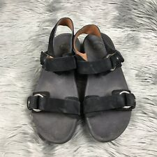 81a09d931fe7 Fitflop Via Bar Black Luxe Leather Sz 8 Womens Ankle Strap Sandals