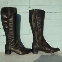 Clarks Leather Boots Uk 6 Eur 39 D Sexy Womens Ladies Brown Boots