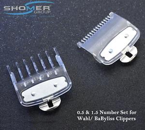 2pcs set 1.5MM/4.5MM PremimumAttachment Cutting Guide Comb for WAHL Hair Clipper