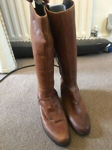 Brown Leather Boots Size 5