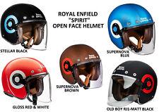 """Nuevo Original Royal Enfield"""" Spirit Abierta Cara CM Moto Casco (5 Opciones)"""