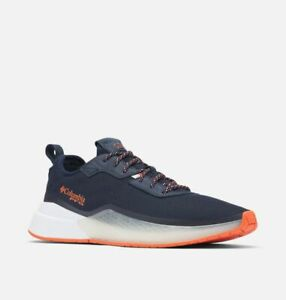 mens columbia low drag pfg navy/orange shoe