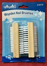 2 NAIL BRUSHES Manicure Pedicure Scrubbing Cleaning