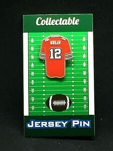 Buffalo Bills Jim Kelly jersey lapel pin-Classic Collectable-Hall of Fame 2002