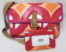 FOSSIL Key Per Flap Crossbody Bag & Coin Purse WALLET RASPBERRY
